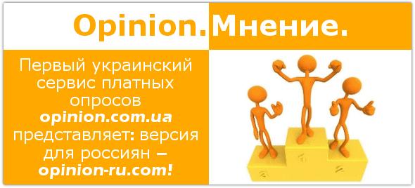 Опросник Opinion: версия для россиян.
